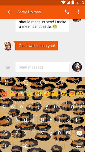 Leopard -Love Emoji Keyboard