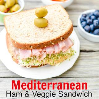 Mediterranean Ham and Veggie Sandwich with Hummus Recipe