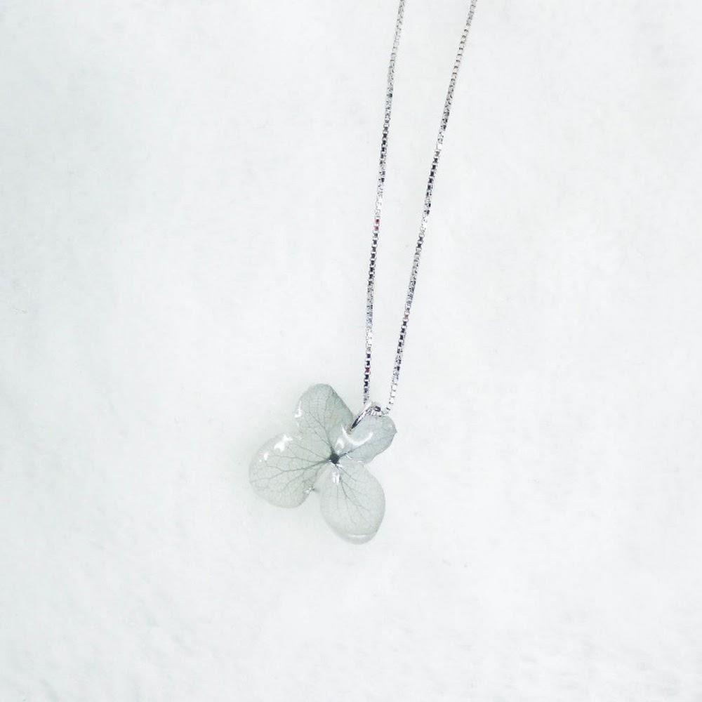 [現貨/stock] 尖沙咀寄賣中 珍珠款 925純銀繡球花頸鏈 925 Sterling Silver Hydrangea Necklace