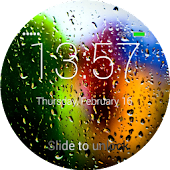 Rain Drops Lock Screen
