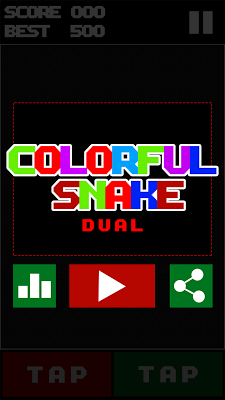 Colorful Snake Dual - screenshot