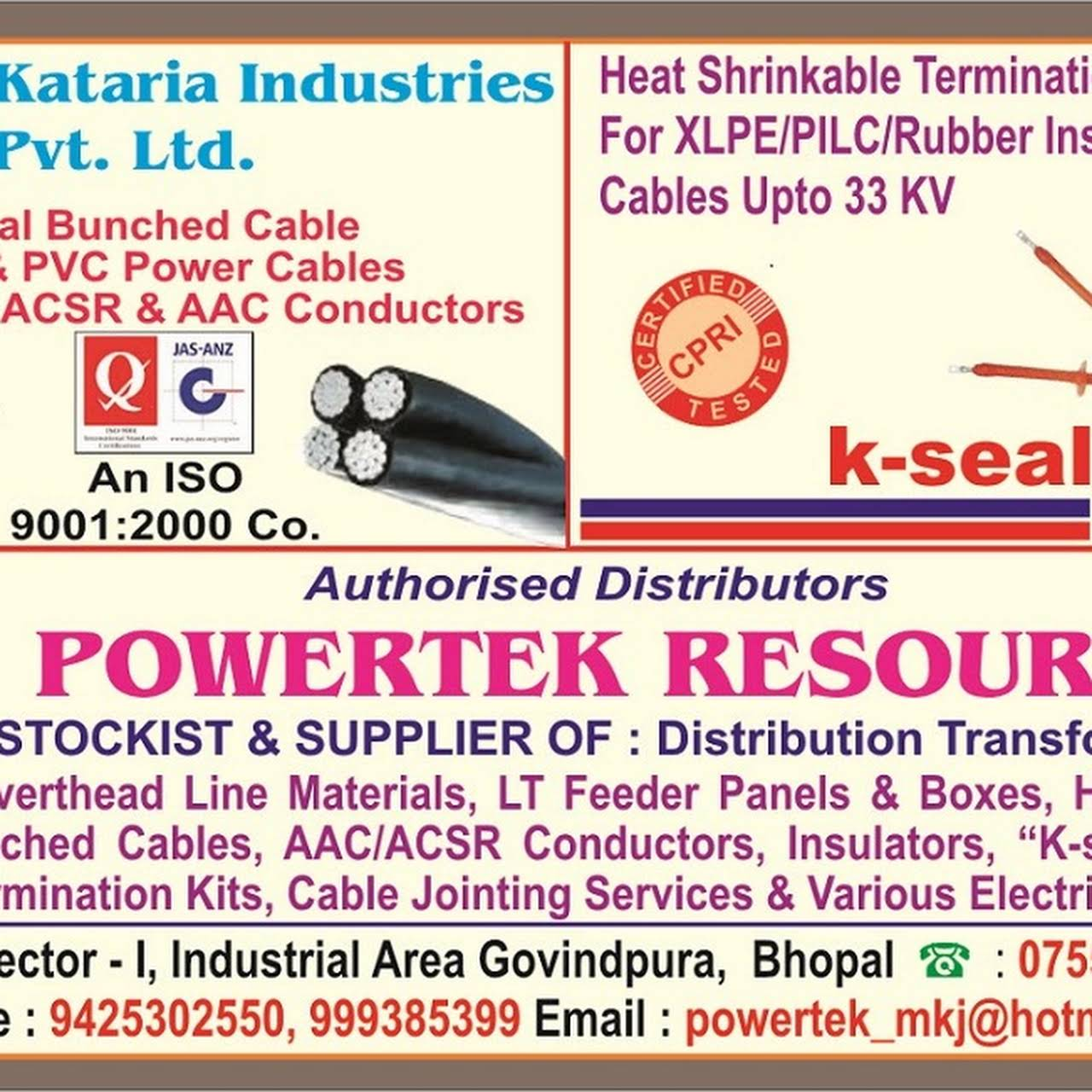 Powertek Resources - Authorised Distributor, Stockist