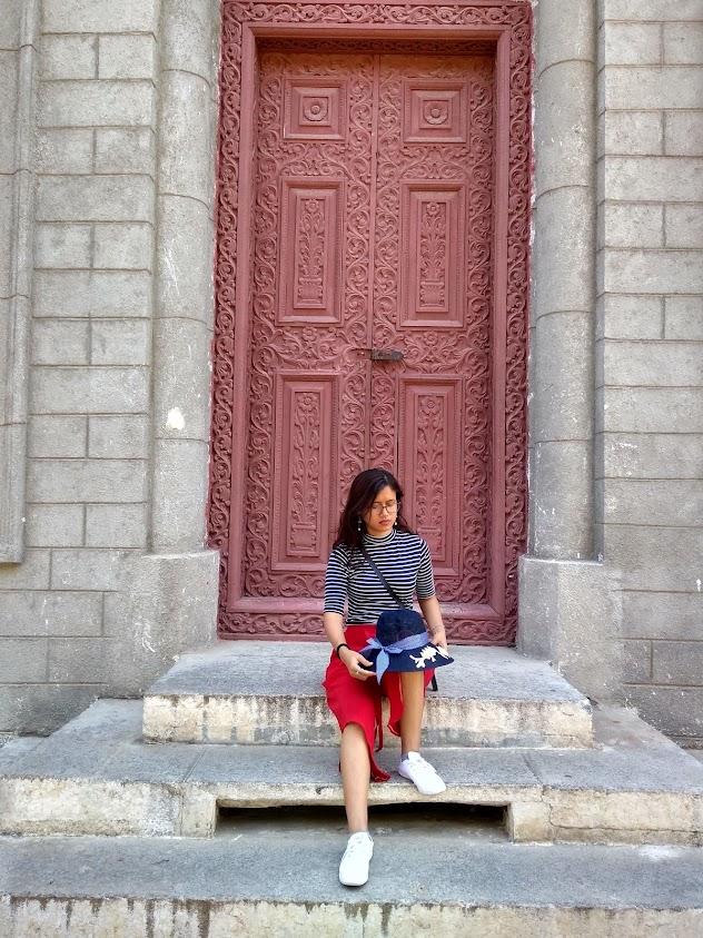 Beautiful doors at saint philomena cathedral, mysore india