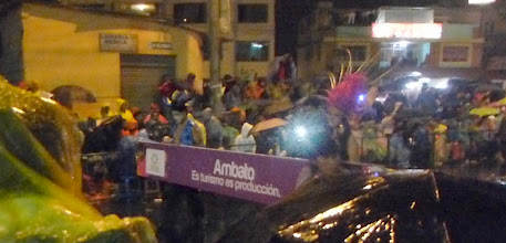 "Photo: Ambato parade in the rain.  ""Tourism is production."""