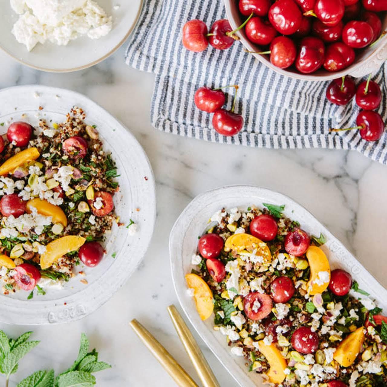 Quinoa, Mint and Stone Fruit Salad