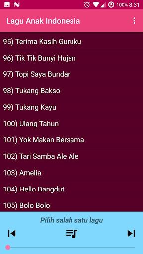 Lagu Anak Indonesia Terpopuler 1.0 screenshots 2