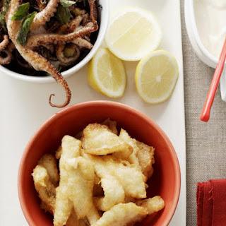 Crispy Fish with Chili Lime Mayonnaise.