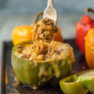 Cheesy Enchilada Stuffed Peppers.