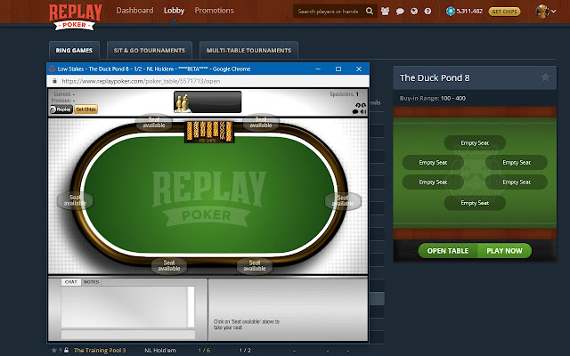 Replay Poker Flash Support
