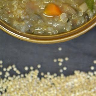 Mushroom Soup with Quinoa