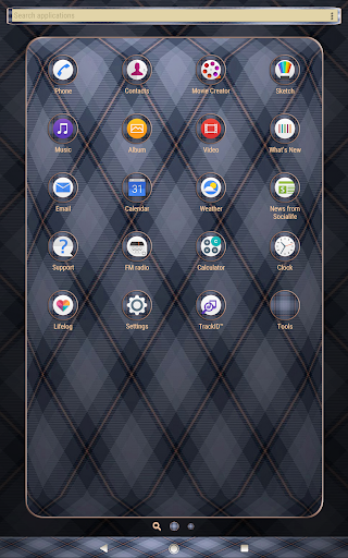 cell pattern | Xperia™ Theme app for Android screenshot