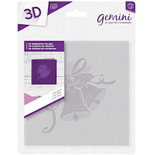 Crafters Companion Gemini 6x6 3D Embossing Folder - Holly Bells