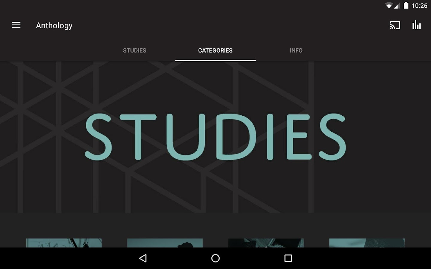 Anthology Studies- screenshot
