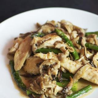 Chicken, Asparagus, and Wild Mushroom Stir-Fry.