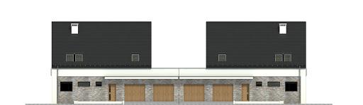 Bernikla z garażem 2-st. bliźniak A1-BL1 - Elewacja przednia