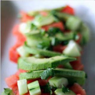 Avocado and Cucumber Salad.