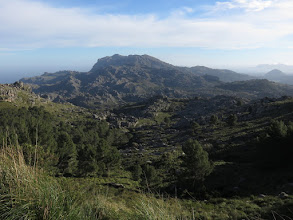 Photo: Macizo de Ternelles; Puig de Maria y Talaia d'Alcudia a la derecha