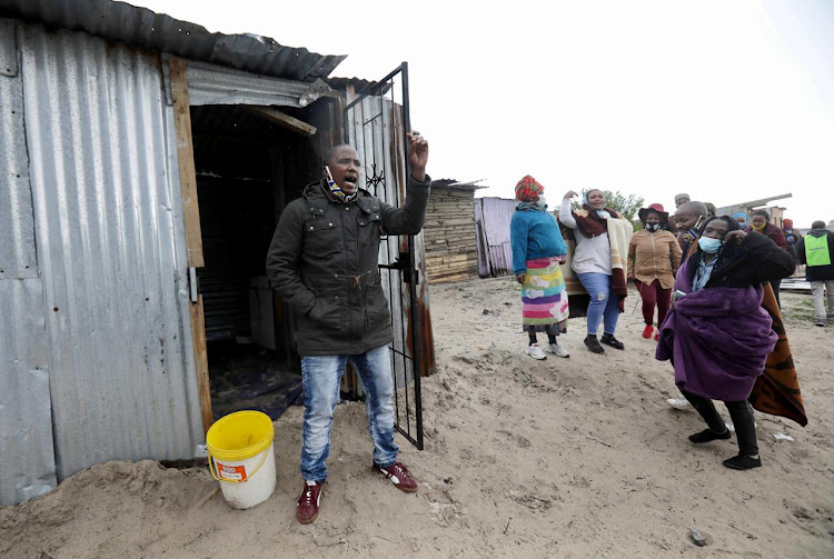 Bulelani Qholani opened a case against the City of Cape Town after a video of him being dragged naked out of his shack went viral. Picture: ESA ALEXANDER