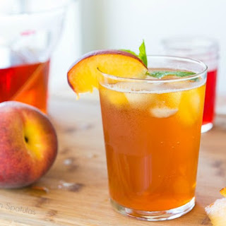 Sparkling Peach Iced Tea