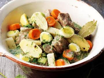 Dill-Meat (boiled meat with dill sauce)