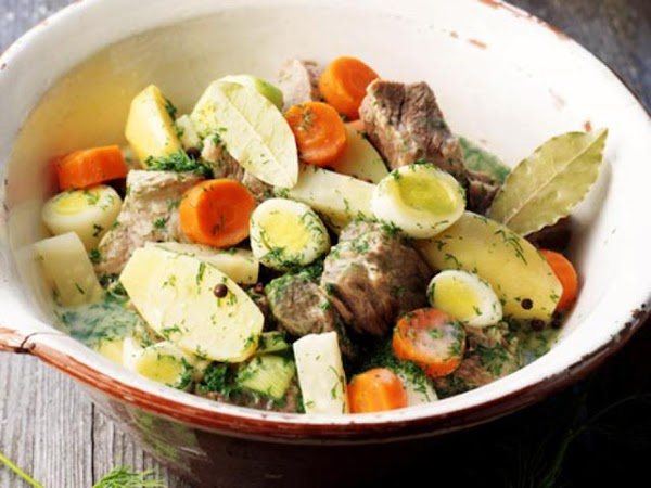 Dill-meat (boiled Meat With Dill Sauce) Recipe