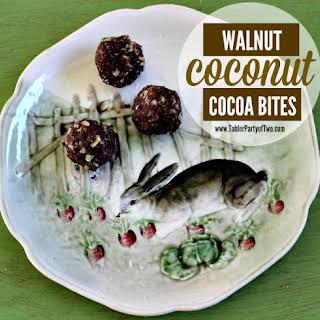 Walnut Coconut Cocoa Bites.