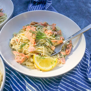 Lemon Dill Capellini with Salmon Recipe
