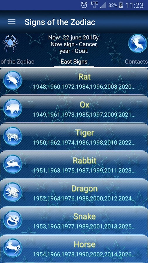 Signs of the Zodiac- screenshot