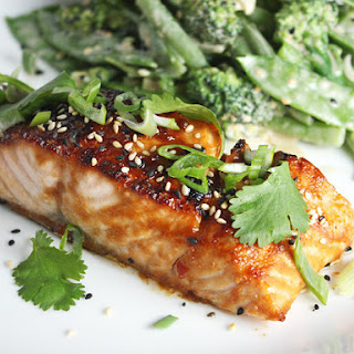 Broiled Salmon with Miso Glaze.