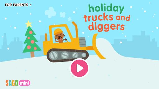 Screenshot for Sago Mini Holiday Trucks and Diggers in Hong Kong Play Store