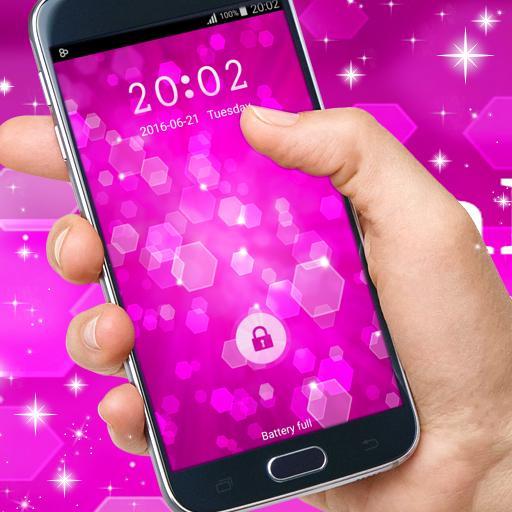 粉红色的锁屏 個人化 App LOGO-硬是要APP