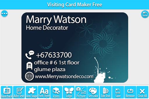Visiting Card Maker Free 1.4 screenshots 3