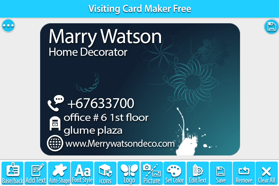 Visiting card maker free android apps on google play visiting card maker free screenshot reheart Images