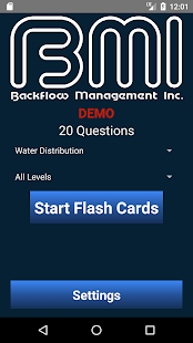 BMI Flash Cards for the Water Industry- screenshot thumbnail