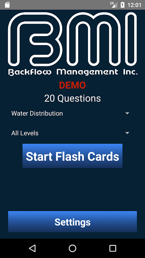 BMI Flash Cards for the Water Industry- screenshot