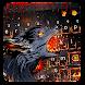 Fire Flaming Wolf Keyboard Theme