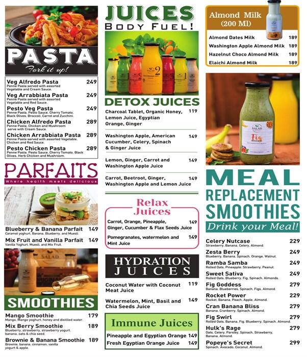 Salad Company menu 4