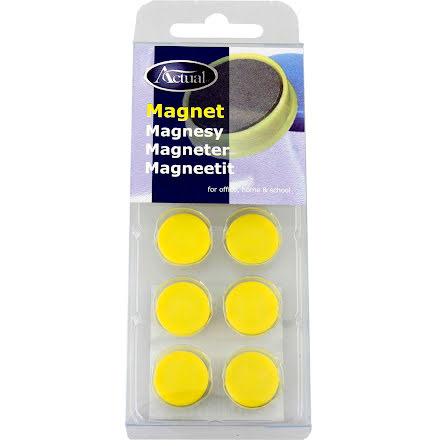 Magnet rund 16mm gul 10/fp