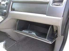Photo: First I opened the glove box.