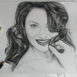 Urvashi Rautela (tn_tanmoy) by Tanmoy Bauri - Drawing All Drawing