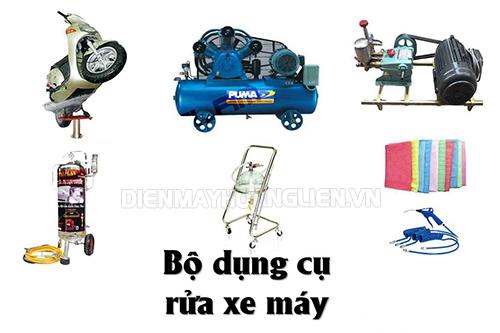 bộ dụng cụ rửa xe chuyên nghiệp cho xe máy