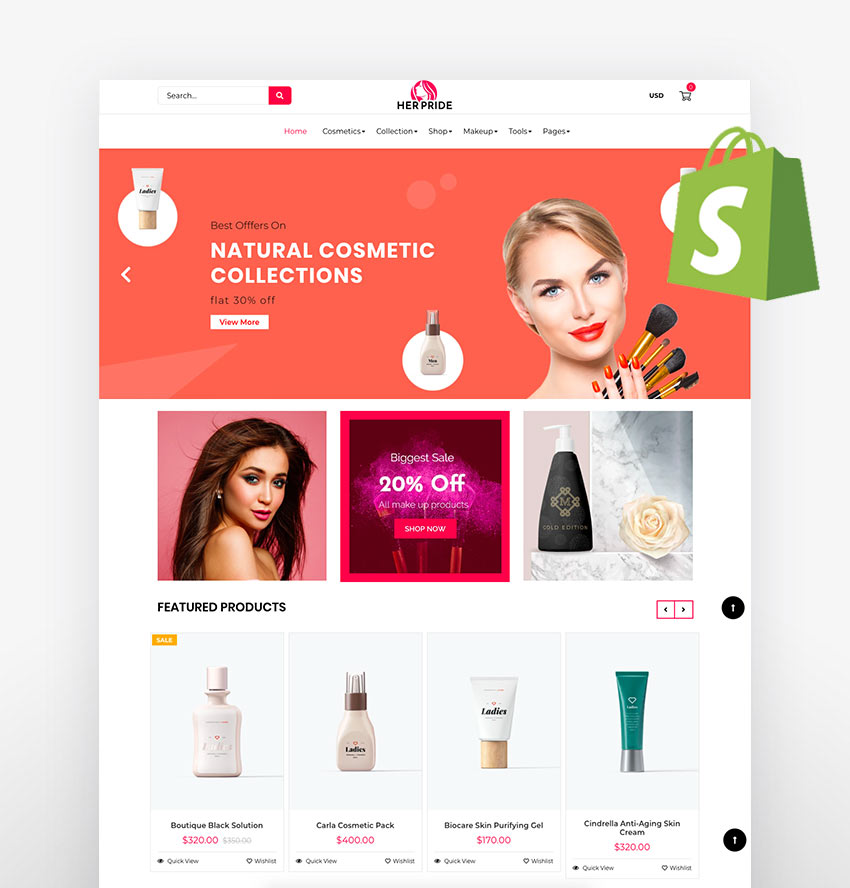 Shopify skin care themes
