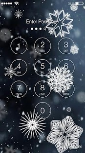 Christmas Snowflake Screen Lock - náhled
