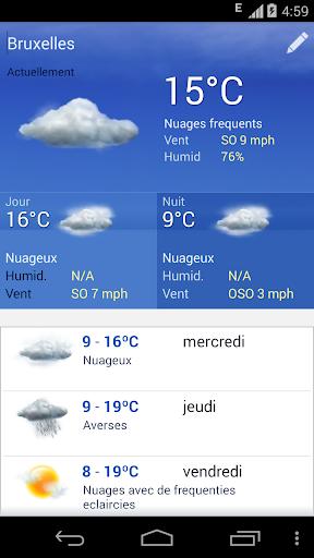 Meteo Belgique screenshot 1