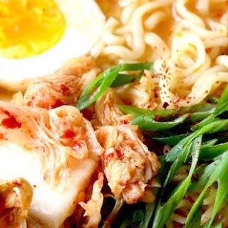 Easy Kimchi Ramen.