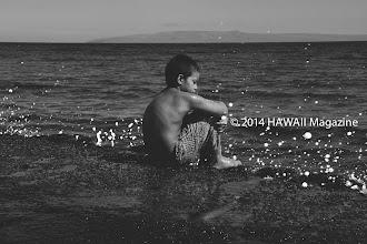 Photo: PEOPLE CATEGORY, FINALIST. Contemplating the sea at Lahaina, Maui. Photo by Leone Papalii, Honolulu, Oahu, Hawaii.