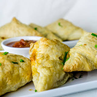 Black Bean Puff Pastry Triangles.