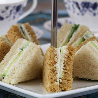 Cucumber Sandwiches Recipe (With Mayo & Cream Cheese).