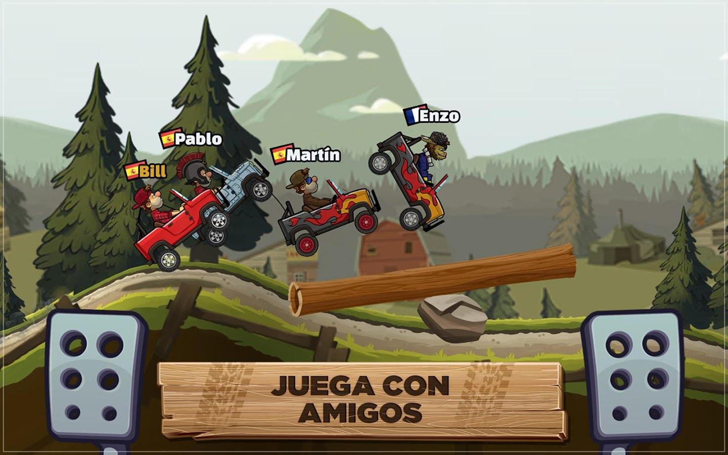Hill Climb Racing 2: captura de pantalla