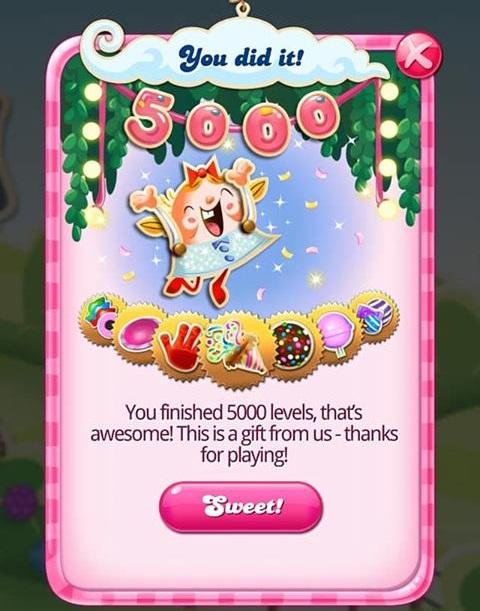 candy crush win screen